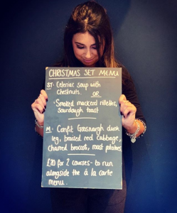 JB's Christmas set menu has landed.
